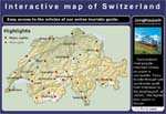 Click for interactive map showing top touristic attractions in Switzerland